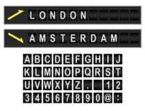 Flygplatsskärm vektor illustrationer
