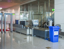Flygplatssäkerhetskontroll Arkivfoto