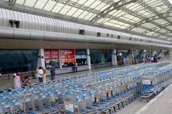 Flygplatsspårvagnar Arkivbild