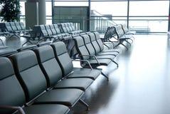 flygplatsstolar royaltyfria bilder