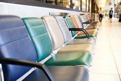 flygplatsstolsterminal royaltyfria foton