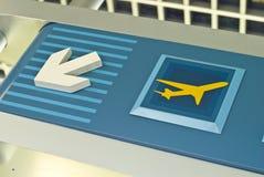 flygplatstecken Royaltyfri Bild