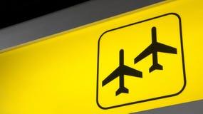 flygplatstecken Royaltyfri Foto