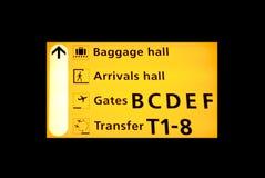 flygplatstecken royaltyfri fotografi