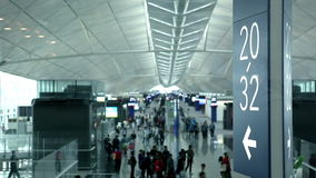 Flygplatsterminal lager videofilmer