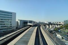 flygplatsterminal till långt Arkivfoto
