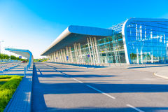 Flygplatsterminal utanför Fotografering för Bildbyråer