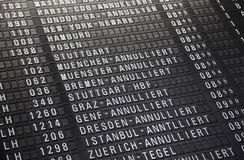 Flygplatstimeboard Royaltyfri Bild