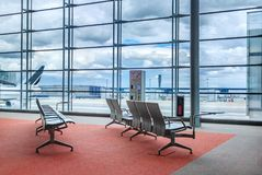 Flygplatsvardagsrum Arkivbild