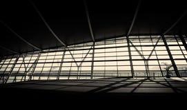 Flygplatsvardagsrum Arkivfoto
