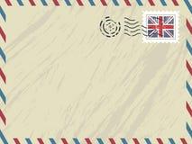 flygpost brittiskt kuvert Arkivbild