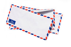 flygpost kuvert Arkivbild