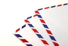 flygpost kuvert Arkivfoto