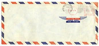 Flygpostbokstav med den amerikanska stämpeln Arkivfoto