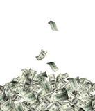 Flygsedlar av dollar stock illustrationer