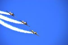 Flygshow Arkivfoton