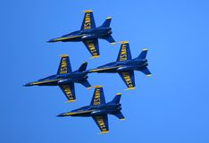 Flygshow för blåa änglar Arkivfoton