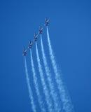 Flygshow för blåa änglar Fotografering för Bildbyråer