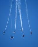 Flygshow för blåa änglar Arkivbilder