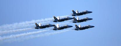 Flygshow för blåa änglar Royaltyfri Fotografi