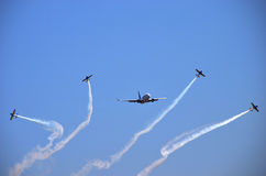 Flygshow - flygplan 3 Arkivfoton