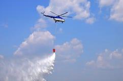 Flygshow - helikopter Arkivbild
