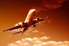flygsun till Royaltyfri Fotografi