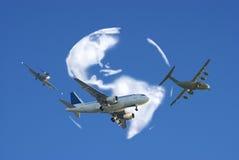 flygtrafik Fotografering för Bildbyråer