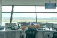 Flygtrafikkontroll (ATC) Arkivfoton