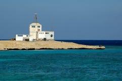 Flygtrafikkontroll på ön nära Hurghada egypt Royaltyfri Foto