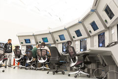 Flygtrafikkontrollantbildskärmar Arkivfoton