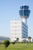 Flygtrafikkontrolltorn av Atenflygplatsen Royaltyfria Foton