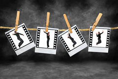 flygtur för höft för afrikansk amerikandansarefilmstrip Royaltyfri Fotografi