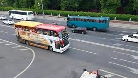 Flygtur-på flygtur-avbussen lager videofilmer