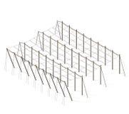 Flygtur-trädgård landskap åkerbruk liggande Konstruktioner för trädgårdflygturomsorg i rader Royaltyfria Foton