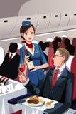 Flygvärdinna royaltyfria bilder