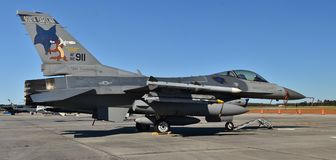 FlygvapenF--16huggorm - stridighetfalk royaltyfria bilder