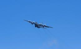 FlygvapenHercules C-130H för RNZAF New Zealand nivå Arkivbild