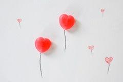 Flyin de sucrerie de ballon d'amoureux, Valentine, épousant Photos stock