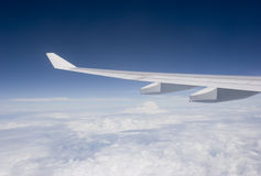 Flying. View from Inside an Airplane Stock Images