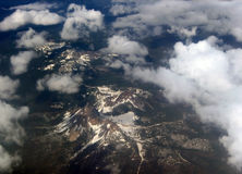 Flying. Landscape pictures taking from inside an airplane in the air Stock Photography