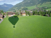 Flying. Shadow image of flaing hot-air ballon Stock Images