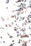 Flying. Papermoney on whitebackground Stock Image