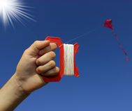Flying A Kite Royalty Free Stock Photography
