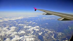 Flying above the Alps,Italy, France mountain stock video