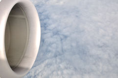 Flying above cloud layer Stock Photography