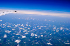 Flying above the clouds Royalty Free Stock Images