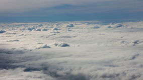 Flying above clouds stock video footage