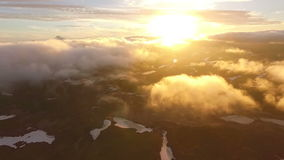 Flying above the clouds. The drone is flying above the clouds. The drone is flying above the clouds stock video