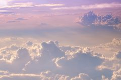 Flying above the clouds Royalty Free Stock Image